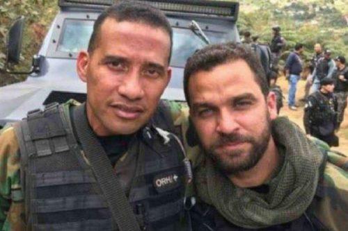 Albert Andrés Camacho junto a su compañero en la masacre del junquito