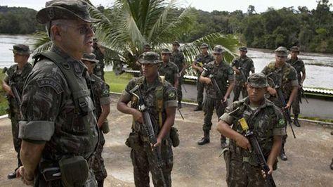 fuerzas armadas de Brasil en la frontera