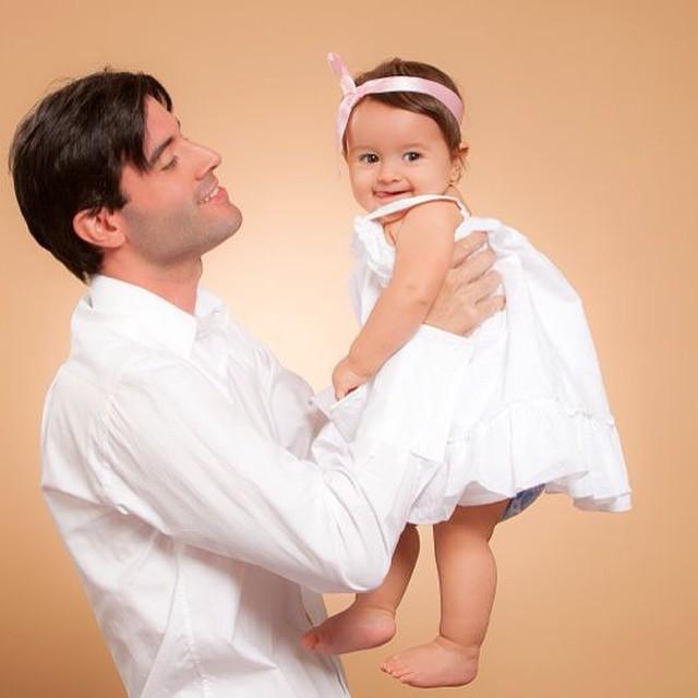 Jonathan Montenegro y su hija Sophia