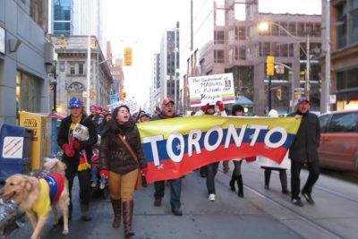 Protestas en Canadá