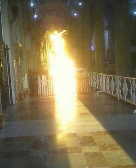¿Un milagro? una persona fue a la iglesia y cuando entró asegura que se le apareció la Virgen de la Chinita