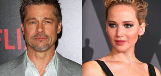 Jennifer Lawrence y Brad pitt