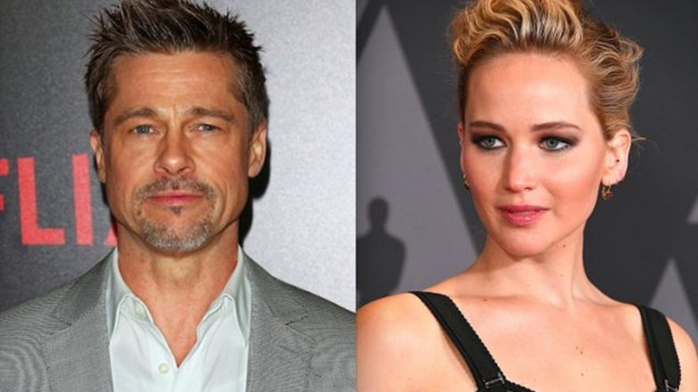 Jennifer Lawrence y Brad pitt