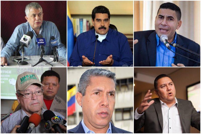 Los seis candidatos presidenciales han formalizado su inscripción ante el CNE