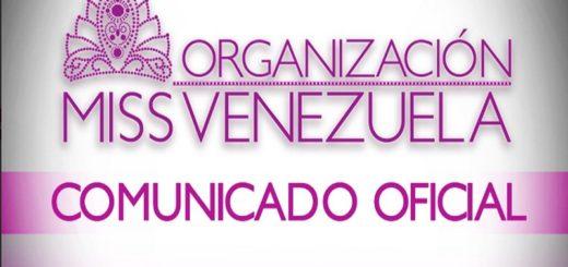 Miss Venezuela- comunicado