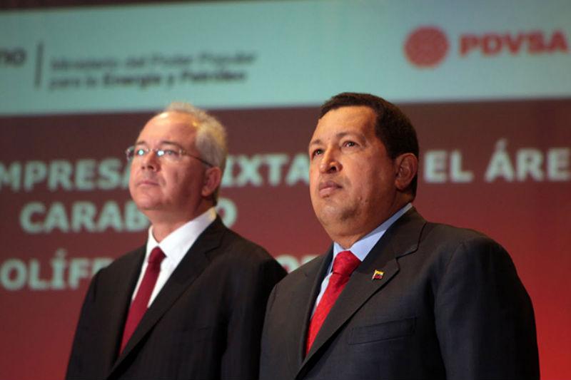 Hugo Chávez y Rafael Ramirez
