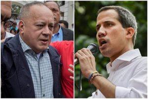 Diosdado Cabello y Juan Guaido